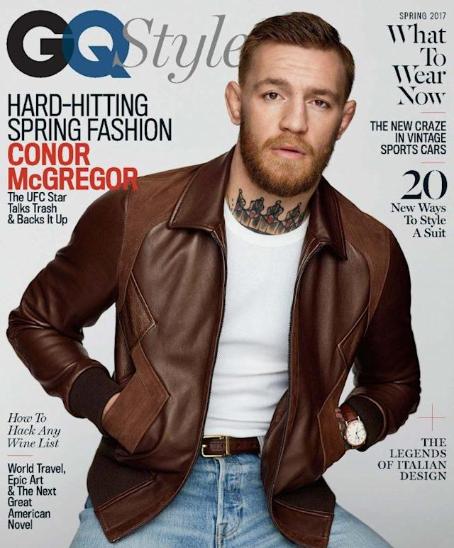 Conor McGregor has a very unconventional selection for his favorite romantic comedy. (Photo credit: GQ Style)