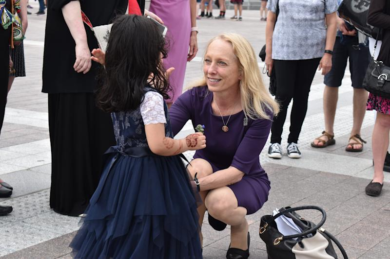 U.S. Rep Mary Gay Scanlon said she regularly corresponds with constituents and holds a town hall every month.