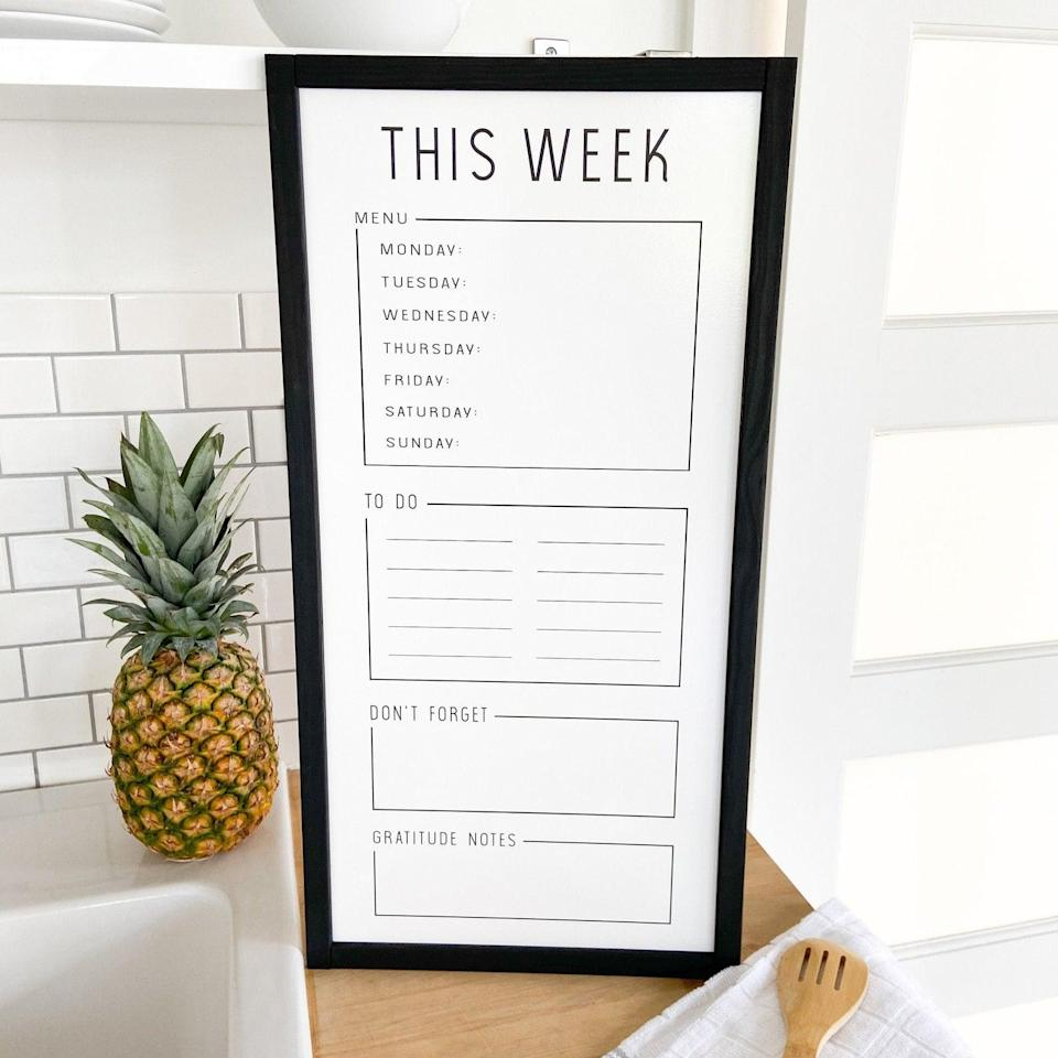 <p>They'll be able to stay on track with their long list of things to do when they have this <span>Weekly Organization Whiteboard</span> ($35).</p>
