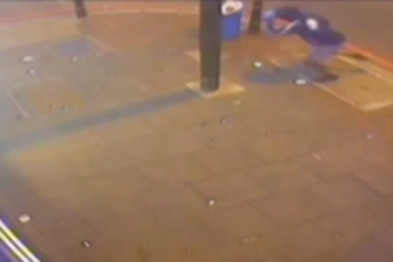 'Indiscriminate': The man races from the scene after the shooting (Met Police)