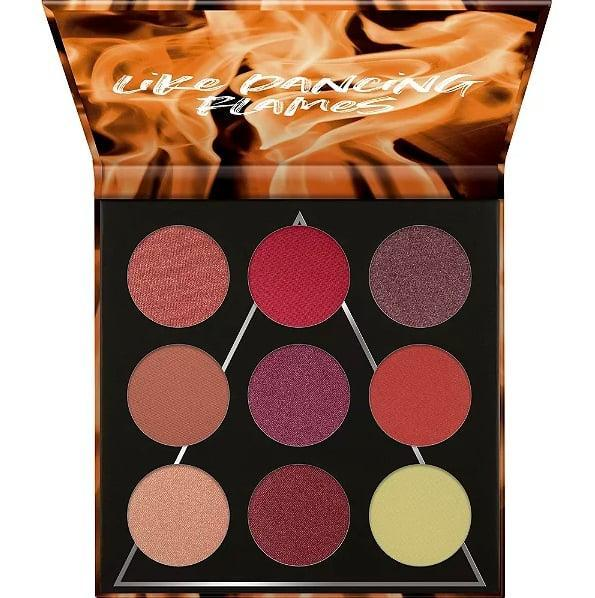 """<p>Making your eyes pop is easy with the <a href=""""https://www.popsugar.com/buy/Essence-Like-Dancing-Flames-Fire-Eyeshadow-Palette-172978?p_name=Essence%20Like%20Dancing%20Flames%20Fire%20Eyeshadow%20Palette&retailer=ulta.com&pid=172978&price=10&evar1=bella%3Aus&evar9=30490550&evar98=https%3A%2F%2Fwww.popsugar.com%2Fphoto-gallery%2F30490550%2Fimage%2F30510541%2FEyeshadow-Essence-Like-Dancing-Flames-Fire-Eyeshadow-Palette&list1=hair%2Cmakeup%2Ceyeshadow%2Cbeauty%20products%2Calmay%2Cbeauty%20shopping%2Cdrugstore%20beauty%2Cskin%20care&prop13=api&pdata=1"""" class=""""link rapid-noclick-resp"""" rel=""""nofollow noopener"""" target=""""_blank"""" data-ylk=""""slk:Essence Like Dancing Flames Fire Eyeshadow Palette"""">Essence Like Dancing Flames Fire Eyeshadow Palette</a> ($10), which has nine warm-toned, richly pigmented colors.</p>"""