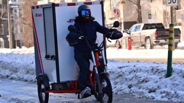Some major logistics companies, including Purolator, are testing new delivery models, including electric cargo bikes.