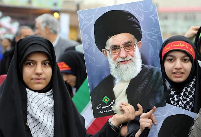 """Iran's supreme leader Ayatollah Ali Khamenei, (in picture), said a landmark nuclear deal with world powers """"won't change"""" the country's stance toward the """"arrogant"""" United States (AFP Photo/Atta Kenare)"""