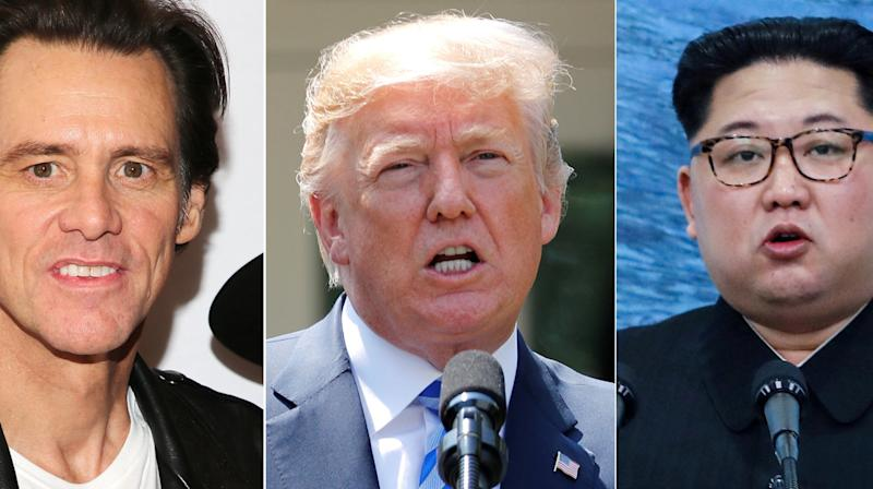 Jim Carrey dissected President Donald Trump's efforts at diplomacy with North
