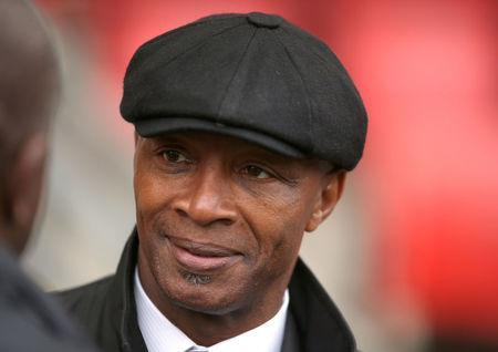 FILE PHOTO: Football - Leyton Orient v Milton Keynes Dons - Sky Bet Football League One - The Matchroom Stadium, Brisbane Road - 12/10/13 Ex player Cyrille Regis at a tribute to former Orient player and team mate Laurie Cunningham Action Images via Reuters/Steven Paston/File Photo