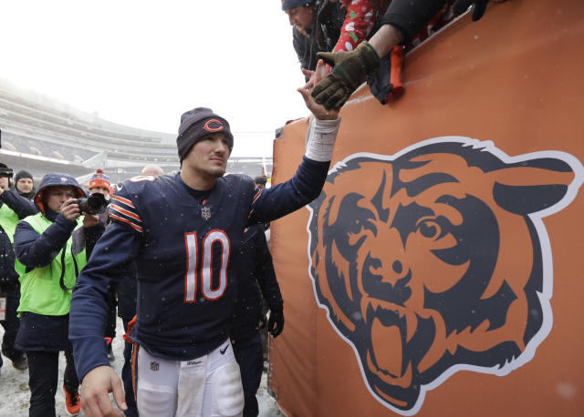 "If <a class=""link rapid-noclick-resp"" href=""/nfl/players/30115/"" data-ylk=""slk:Mitchell Trubisky"">Mitchell Trubisky</a> can make a leap in his second season, the <a class=""link rapid-noclick-resp"" href=""/nfl/teams/chi"" data-ylk=""slk:Chicago Bears"">Chicago Bears</a> offense can get fun in a hurry. (AP Photo/Charles Rex Arbogast)"