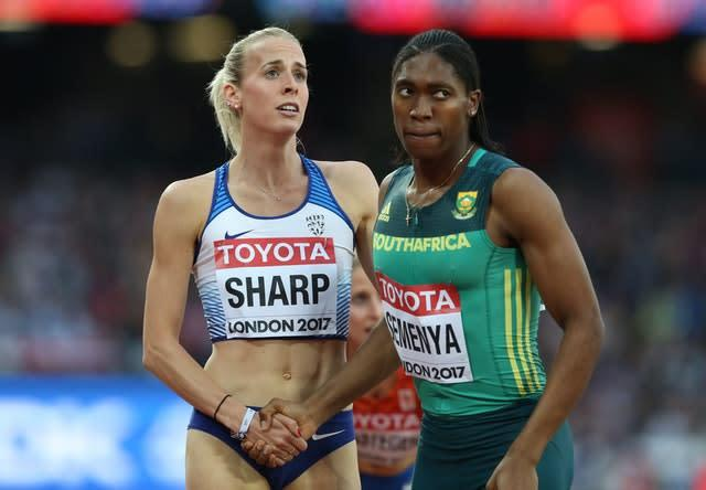 Great Britain's Lynsey Sharp says she has received death threats for speaking about Caster Semenya's dominance (Martin Rickett/PA).