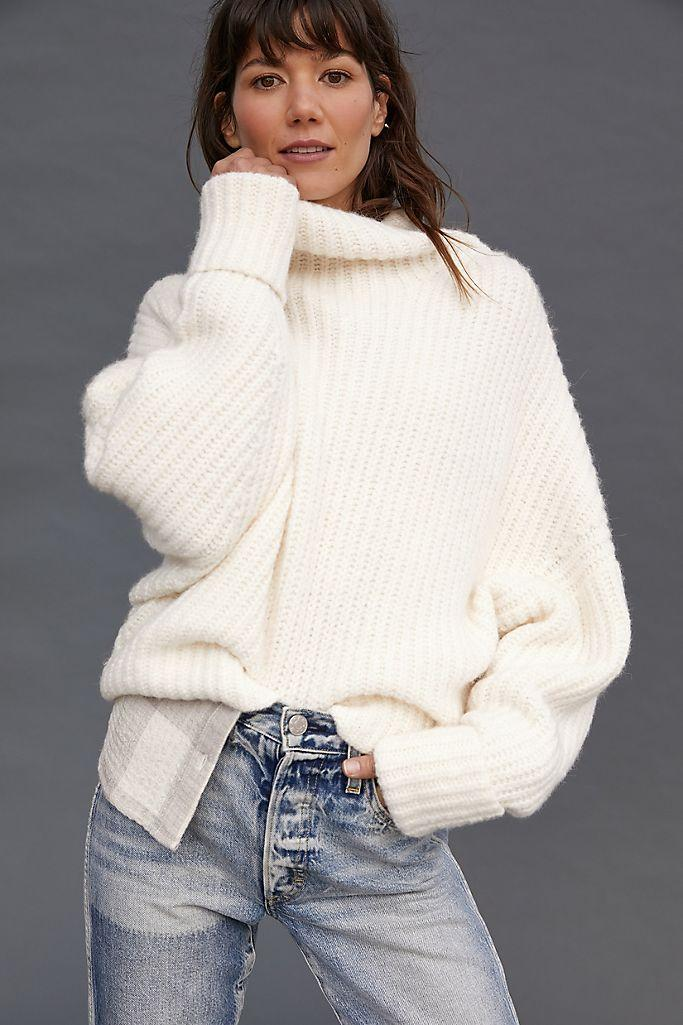 Maeve Athena Cowl Neck Sweater. Image via Anthropologie