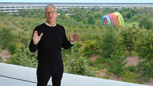 PHOTO: Apple CEO Tim Cook kicks off a special event at Apple Park in Cupertino, California, Sept. 15, 2020. (Apple Inc./AFP via Getty Images, FILE)