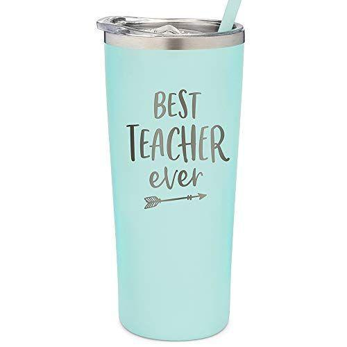 """<p><strong>SassyCups</strong></p><p>amazon.com</p><p><strong>$25.50</strong></p><p><a href=""""https://www.amazon.com/dp/B07XK7WHJX?tag=syn-yahoo-20&ascsubtag=%5Bartid%7C2141.g.36078919%5Bsrc%7Cyahoo-us"""" rel=""""nofollow noopener"""" target=""""_blank"""" data-ylk=""""slk:Shop Now"""" class=""""link rapid-noclick-resp"""">Shop Now</a></p><p>After a year-plus of virtual teaching, the title """"Best Teacher Ever"""" truly fits. This insulated cup has a <strong>leak-proof lid and silicone base</strong>, making it sturdy enough for long work days </p>"""