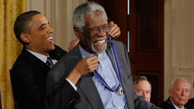 Bill Russell Takes A Knee With His Presidential Medal Of Freedom