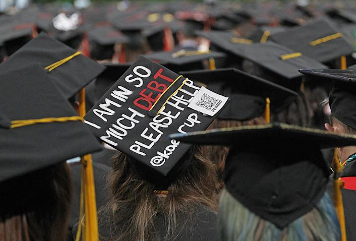 Northeastern University graduation at the TD Garden in May 2019. (Photo: Suzanne Kreiter/The Boston Globe via Getty Images)