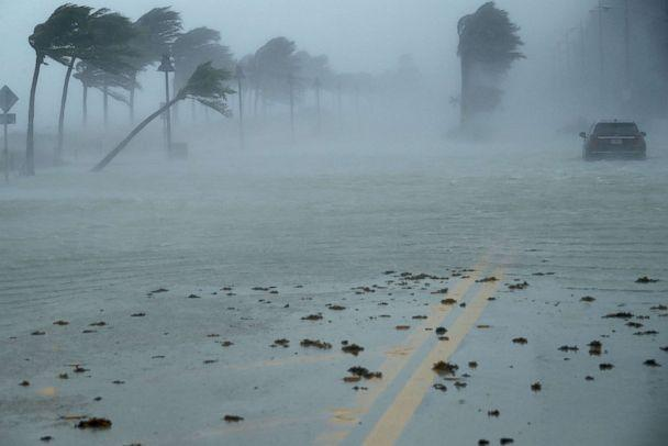 PHOTO: In this file photo, a car sits abandoned in storm surge along North Fort Lauderdale Beach Boulevard as Hurricane Irma hits the southern part of the state, Sept. 10, 2017, in Fort Lauderdale, Fla. (Chip Somodevilla/Getty Images, FILE)