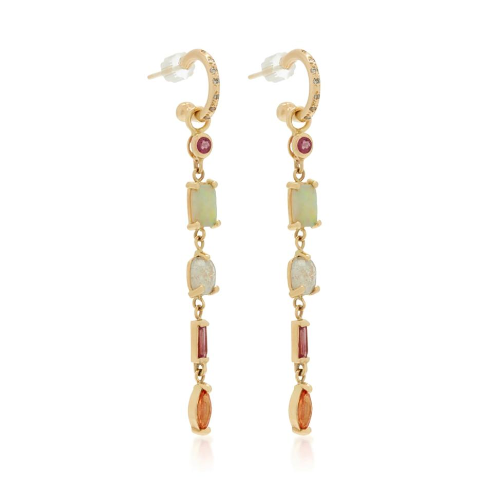 "<p>With sapphires, opals, diamonds and rubies, these earrings are statement making all on their own.</p> <p><strong>Buy Now:</strong> Scosha, gold and multi-gemstone earrings, $6,700, <a href=""https://www.modaoperandi.com/scosha-ss19/14k-gold-and-multi-stone-earrings-3?size=OS"">modaoperandi.com</a>.</p>"