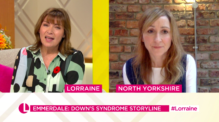 Charlotte Bellamy talked to Lorraine about the controversial storyline. (ITV)