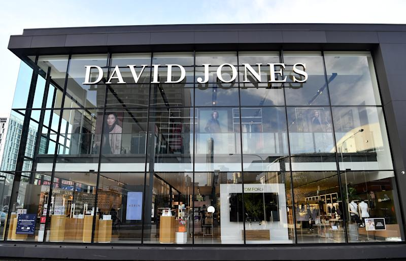 Photo shows a David Jones store after online shoppers claim they got discounts on abandoned items.