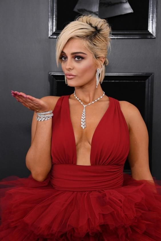 Bebe Rexha attends the Grammy awards 2019. (Getty Images)