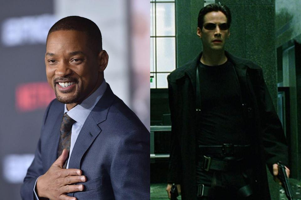 "<p>Smith turned down the lead role of Neo in <em>The Matrix</em>, which ultimately went to Keanu Reeves. ""In the pitch, I just didn't see it,"" he later <a href=""https://www.wired.com/2004/07/smith/"" rel=""nofollow noopener"" target=""_blank"" data-ylk=""slk:explained to Wired"" class=""link rapid-noclick-resp"">explained to <em>Wired</em></a>. ""I watched Keanu's performance — and very rarely do I say this — but I would have messed it up… At that point I wasn't smart enough as an actor to let the movie be. Whereas Keanu was smart enough to just let it be. Let the movie and the director tell the story, and don't try and perform every moment."" Years later, Smith also passed on the title role in <em>Django Unchained</em>, which went to Jamie Foxx. He <a href=""https://www.hollywoodreporter.com/news/will-smith-explains-why-he-843195"" rel=""nofollow noopener"" target=""_blank"" data-ylk=""slk:told The Hollywood Reporter"" class=""link rapid-noclick-resp"">told <em>The Hollywood Reporter</em></a> he felt the movie should have been ""a love story, not a vengeance story."" </p>"