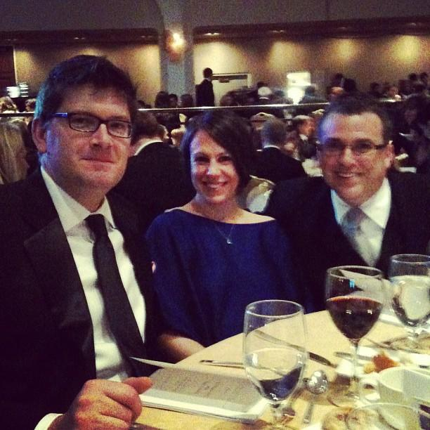 Yahoo! News Olivier Knox (left), Hillary Frey (center), David Chalian (right) #whcd