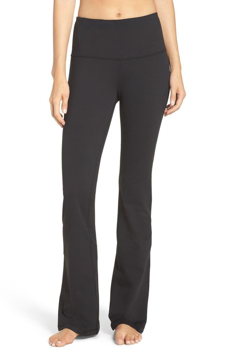 <p>These <span>Zella Barely Flare Live in High Waist Pants</span> ($65) are very on trend, but also so comfortable. We like them for low-impact movement.</p>