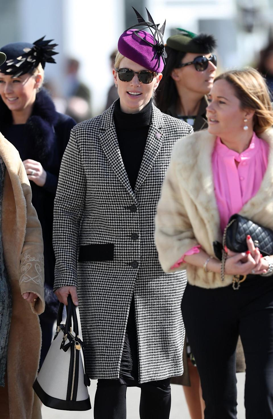 <p>Phillip's monochrome houndstooth is offset by a flash of pink [Photo: PA] </p>