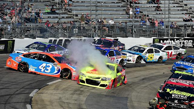 Junior's afternoon in Martinsville ends in disappointment.
