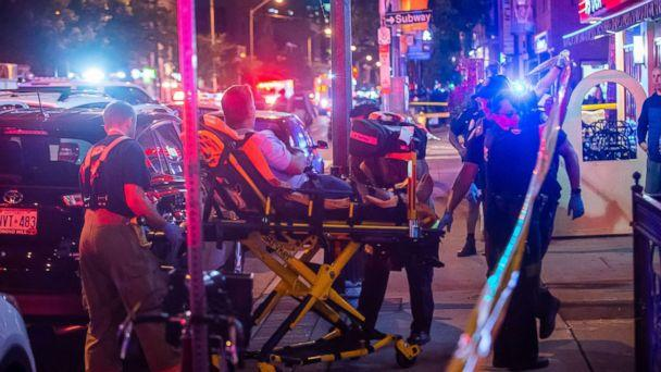 PHOTO: A man is transported in a stretcher after a shooting in Toronto on the evening of July 22, 2018. (Victor Biro via ZUMA Wire)