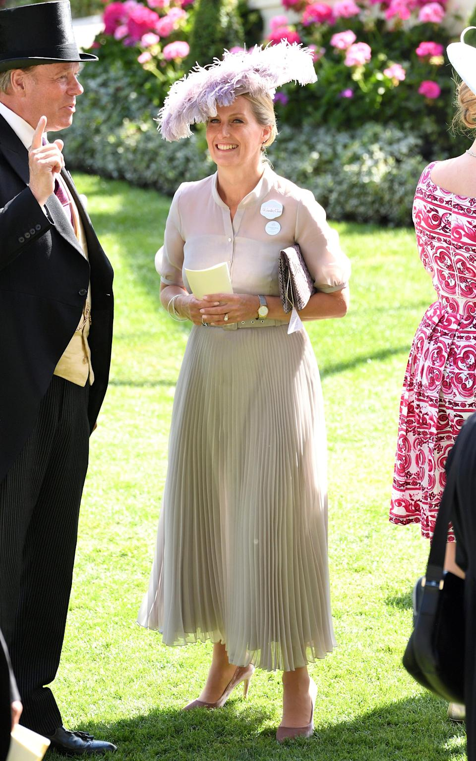 Sophie, Countess of Wessex attends Royal Ascot Day 3 at Ascot Racecourse - Karwai Tang