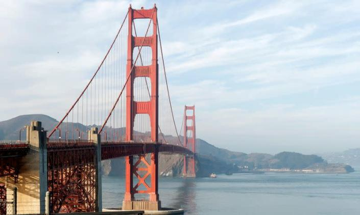 FILE PHOTO: A view of the Golden Gate Bridge in San Francisco