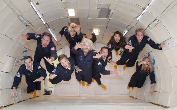 Virgin Galactic's Billionaire Founder Sir Richard Branson Takes Zero-G Flight