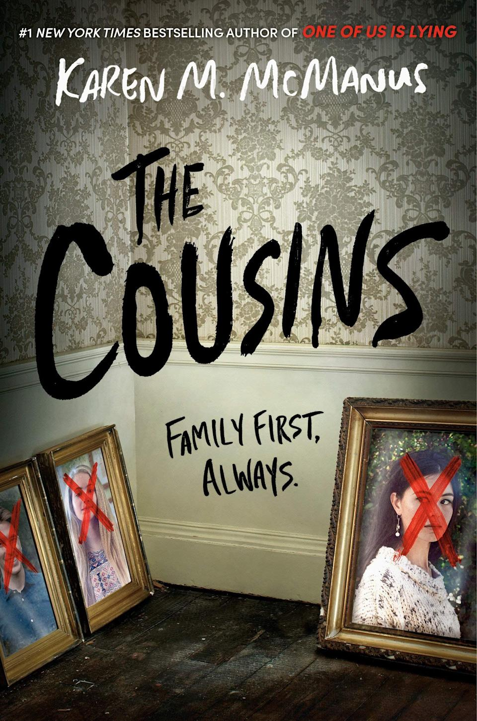 """Milly, Aubrey and Jonah are cousins, but mostly strangers. But when their rich, reclusive grandmother (whom they've also never met) invites them to work at her island resort for the summer, their parents urge them to go and restore familial bonds. When the cousins arrive however, they find out that their shared family past has a lot more dark secrets than they originally thought. Read more about it on <a href=""""https://www.goodreads.com/book/show/49757149-the-cousins"""">Goodreads</a>, and grab a copy on <a href=""""https://amzn.to/2JCOivB"""">Amazon</a> or <a href=""""https://fave.co/3mu7b2r"""">Bookshop</a>.<br /><br /><i>Expected release date:</i> <i>December 1</i>"""