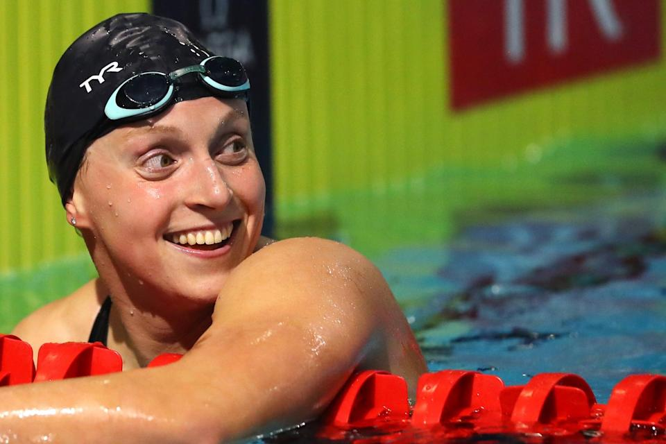 """<p><strong>Sport</strong>: Swimming<br> <strong>Country</strong>: USA</p> <p>Ledecky is known for smashing records by jaw-dropping intervals and leaving her competitors far in her wake, and we're expecting more of the same at the 2021 Olympics. An <a href=""""https://www.popsugar.com/fitness/Katie-Ledecky-Wins-800m-at-2019-World-Championships-46488638"""" class=""""link rapid-noclick-resp"""" rel=""""nofollow noopener"""" target=""""_blank"""" data-ylk=""""slk:illness at the 2019 World Championships"""">illness at the 2019 World Championships</a> left Ledecky with fewer medals than usual, but she pushed through and still came out of the competition with one world title and two silvers. In competitions since, she's <a href=""""https://www.popsugar.com/fitness/katie-ledecky-simone-manuel-compete-in-200-freestyle-46884977"""" class=""""link rapid-noclick-resp"""" rel=""""nofollow noopener"""" target=""""_blank"""" data-ylk=""""slk:looked as dominant as ever"""">looked as dominant as ever</a>, and the fact that she's had a whole extra year to train and <a href=""""https://www.popsugar.com/fitness/katie-ledecky-training-for-postponed-2020-olympics-47641997"""" class=""""link rapid-noclick-resp"""" rel=""""nofollow noopener"""" target=""""_blank"""" data-ylk=""""slk:is making good use of it"""">is making good use of it</a> should strike some fear into the hearts of her competitors.</p>"""