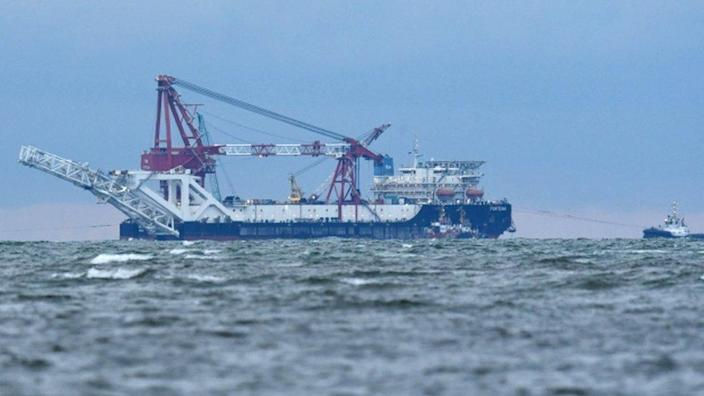 The Fortuna, pipe-laying ship working on the Nord Stream project