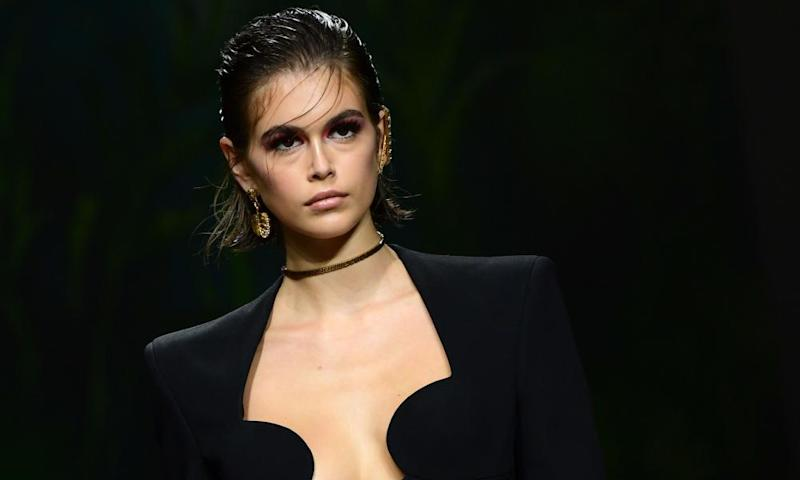 American model Kaia Jordan Gerber, daughter of Cindy Crawford