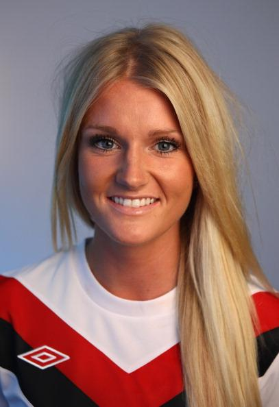 Canada's midfielder, Kaylyn Kyle, was recently named the newest Olympic crush creating a distraction with her piercing gray eyes and long blonde locks. (Alex Livesey/Getty Images)