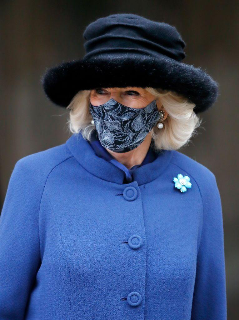 <p>Like her turquoise duck brooches, Duchess Camilla's turquoise flower brooch, which she wore to attend the 800th anniversary of the Salisbury Cathedral last December, comes as a set. </p>