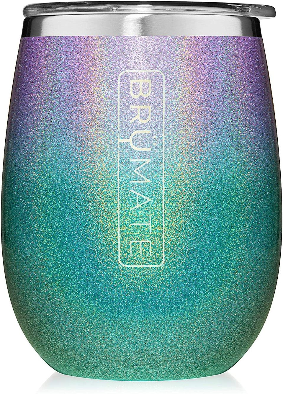 <p>The <span>BrüMate Uncork'd XL 14oz Wine Glass Tumbler With Splash-proof Lid</span> ($23) is a gorgeous and functional way to incorporate the mermaid life into your human life.</p>