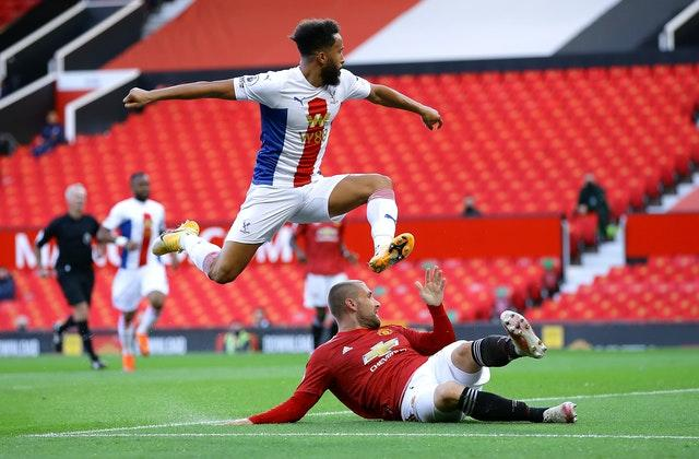 Andros Townsend got Palace off the mark at Old Trafford