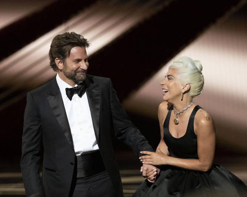 THE OSCARS® - The 91st Oscars® broadcasts live on Sunday, Feb. 24, 2019, at the Dolby Theatre® at Hollywood & Highland Center® in Hollywood and will be televised live on The ABC Television Network at 8:00 p.m. EST/5:00 p.m. PST. (Craig Sjodin via Getty Images) BRADLEY COOPER, LADY GAGA