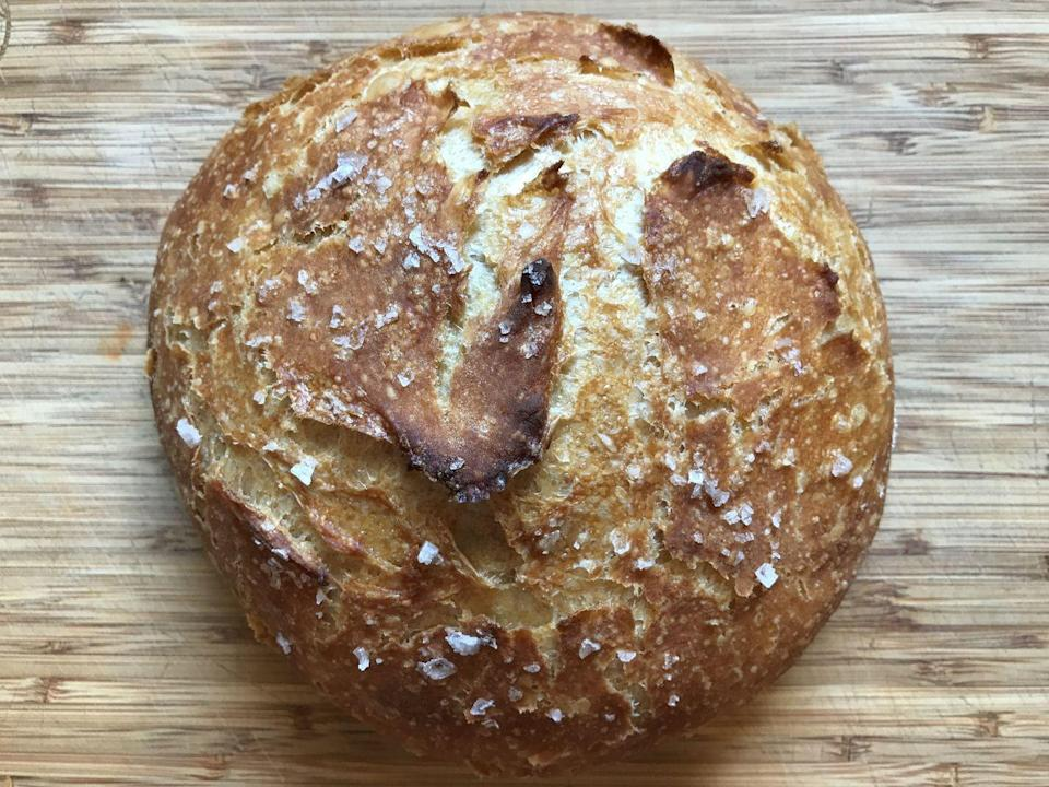 """<p>Okay, hear us out: Bread may seem like it's too complex to get into, but this easy no-knead recipe will change your mind. It needs an overnight rise, but most of that time is unattended. And your result is fresh bread!</p><p><strong><a href=""""https://www.countryliving.com/food-drinks/a32050142/easy-no-knead-bread-recipe/"""" rel=""""nofollow noopener"""" target=""""_blank"""" data-ylk=""""slk:Get the recipe"""" class=""""link rapid-noclick-resp"""">Get the recipe</a>.</strong></p>"""