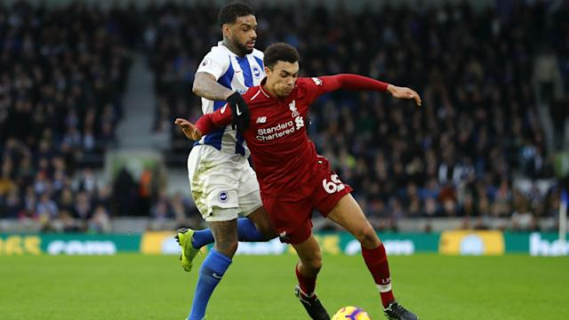 Liverpool faced being without Trent Alexander-Arnold for their Premier League game at Brighton but he played through the pain in a 1-0 win.