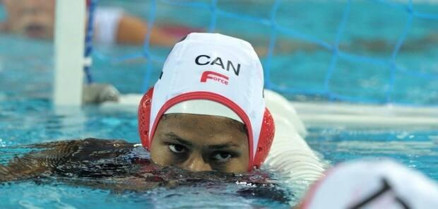 Krystina Alogbo was a key member of the women's national water polo team for 15 years, and captain of the team when it qualified in 2019 for its first Olympics since 2004. (Courtesy Water Polo Canada - image credit)