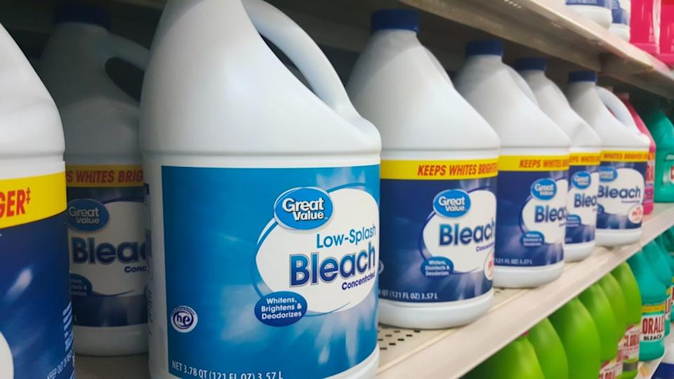bottles of great value bleach at walmart