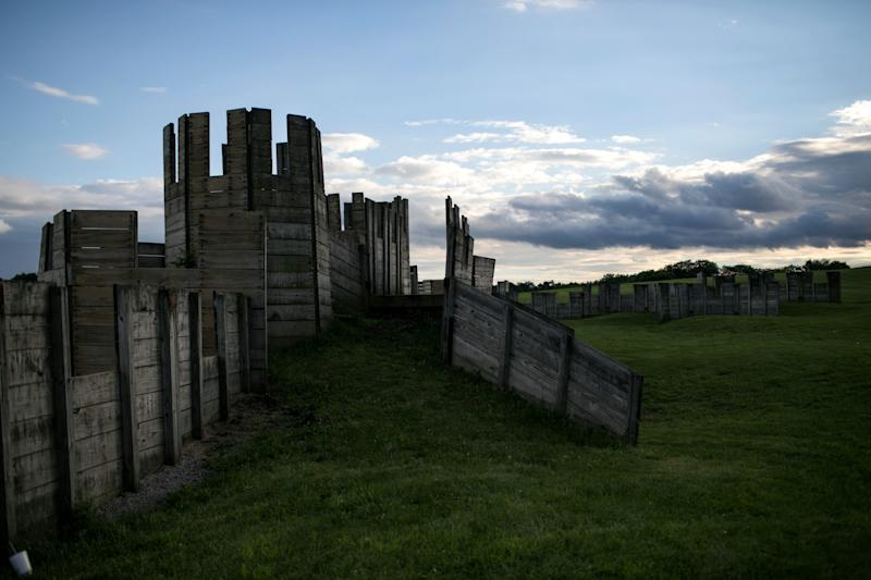 A castle erected for various battles at Ragnarok. (Photo: Maddie McGarvey for HuffPost)