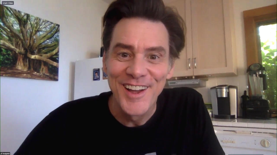 THE TONIGHT SHOW STARRING JIMMY FALLON -- Episode 1291A -- Pictured in this screengrab: Actor Jim Carrey during an interview on July 16, 2020 -- (Photo by: NBC)