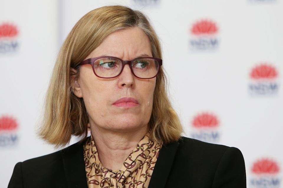 Dr Kerry Chant appeared dismayed this week over vaccination rates for older residents of NSW. Source: Getty