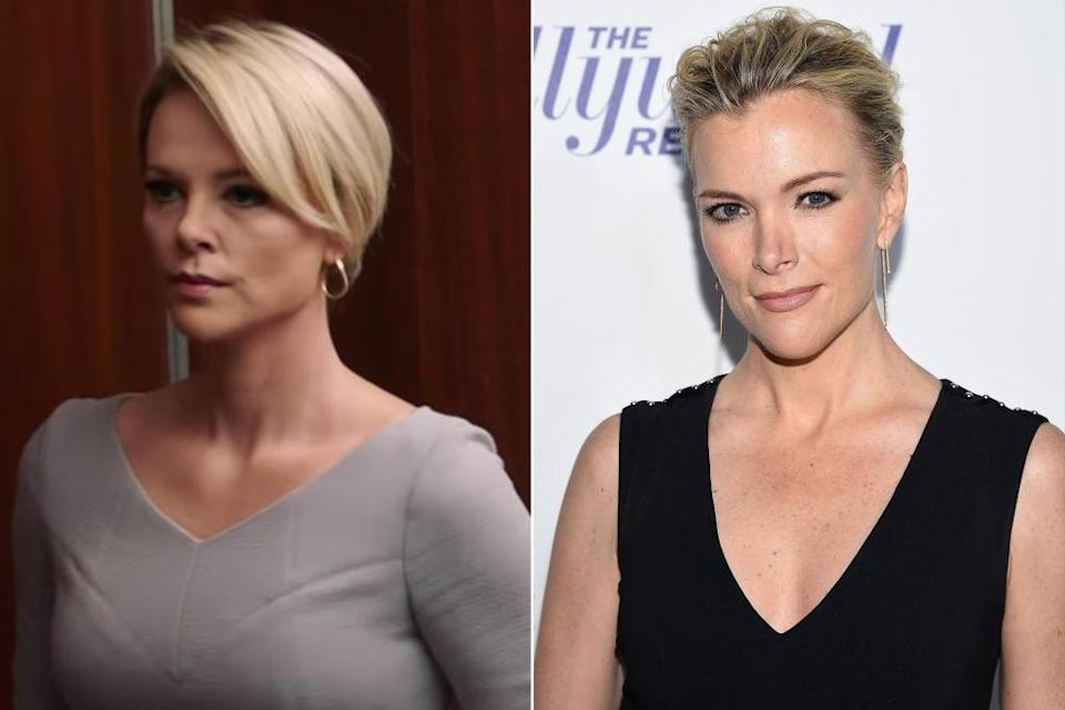 Charlize Theron (left) and Megyn Kelly (right) | Lionsgate Movies; Dimitrios Kambouris/Getty