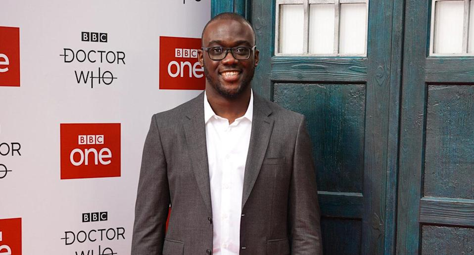 <i>Doctor Who</i> S11 composer Segun Akinola at the red carpet launch. (BBC/Ben Blackall)