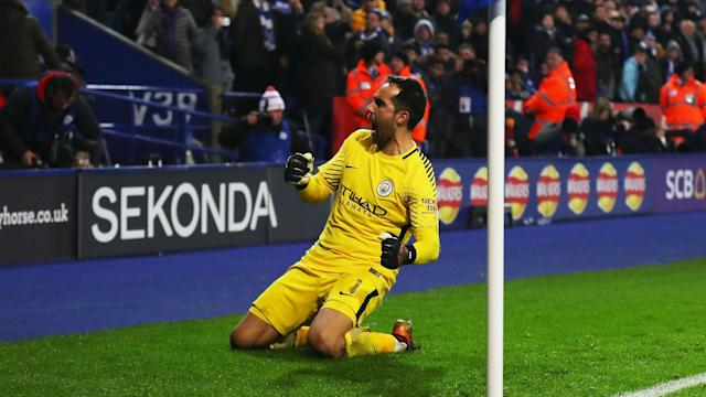 Ederson has won rave reviews at Manchester City but Claudio Bravo's cup displays have sealed his place for the Wembley date with Arsenal.