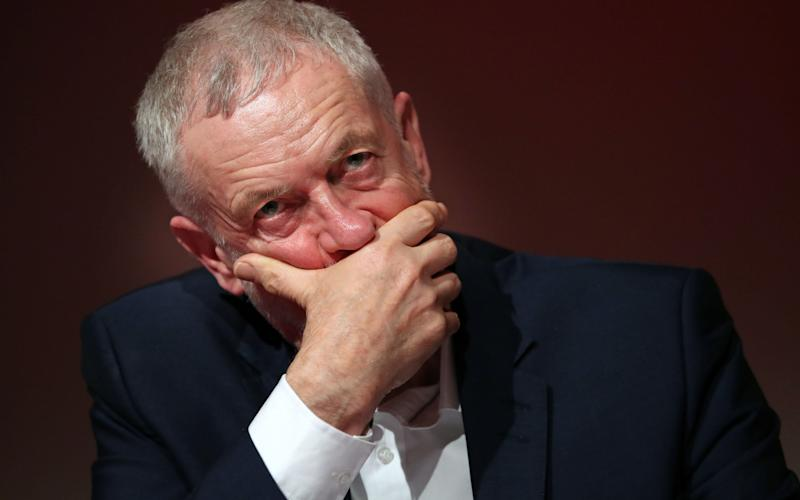 Labour party leader Jeremy Corbyn during the Labour's economic conference at Glasgow Royal Concert Hall on Saturday - PA